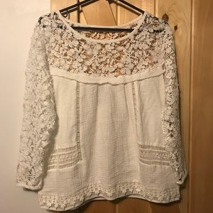 Lacy white top, guest edition